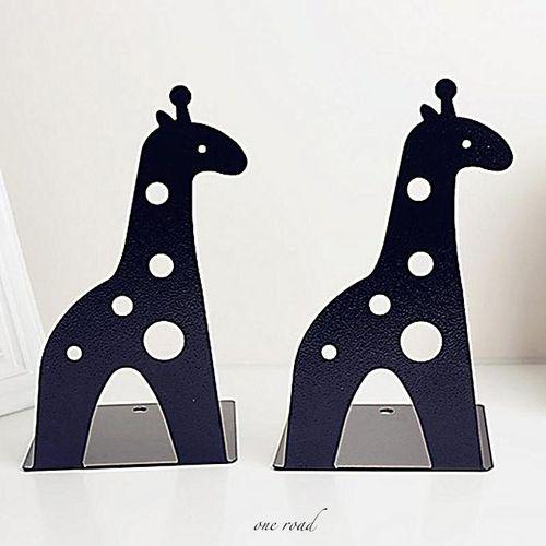 Giraffe Elephant Tin Book Creative Bookshelf Black