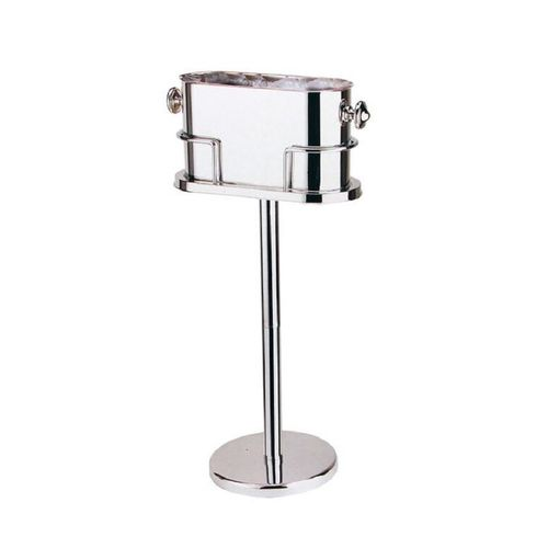 Champagne Cooler with Stand- Silver