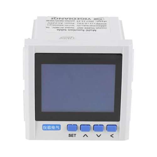 Multifunction 3-Phase Electric Current Voltage Frequency Durable Power Energy Meter V A Hz KWh RS485 - Intl