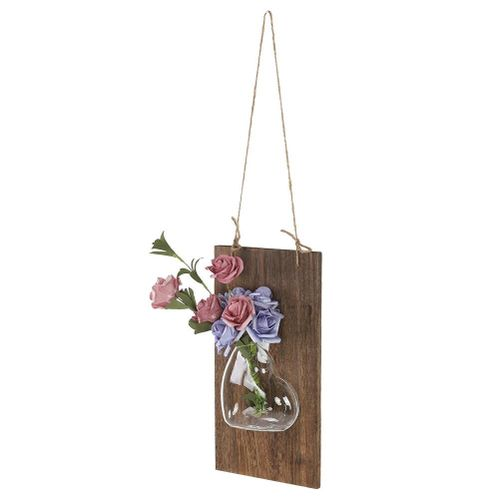 2pcs Hanging Glass Flower Planter Vase Terrarium Container Home Garden Decor