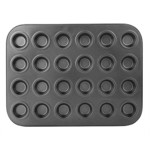 24 Cups Stainless Steel Non-sticky Cake Muffin Egg Tart Baking Pan Mold