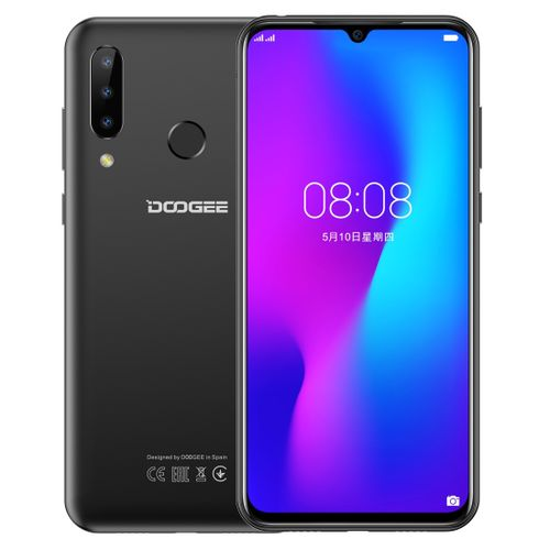 "N20 4GB+64GB 4350mAh Battery 6.3"" Waterdrop Notch Screen Android 9.0 4G Smartphone - Black"