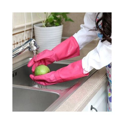 PVC Cleaning Gloves Kitchen Dishwashing Waterproof Reuseable