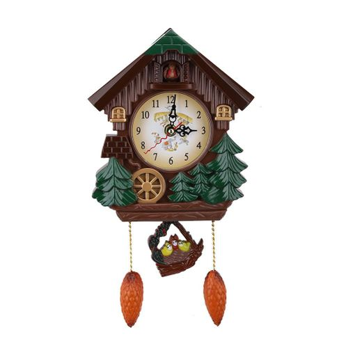 Cuckoo Clock Tree House Wall Clock Art Vintage Decoration For Home Wall Clock Tree Style Home