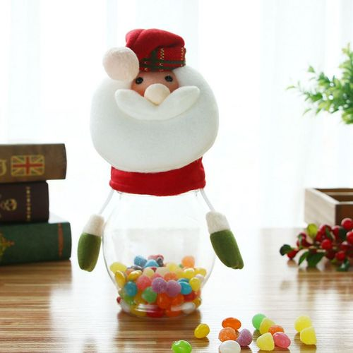 Christmas Candy Can Large Plastic Transparent Gift Box