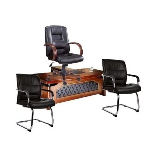 Executive Table And Chair With 2 Visitor Chairs