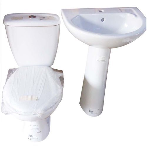 Toilet Seat Tank Basin And Pedestal Top Flush