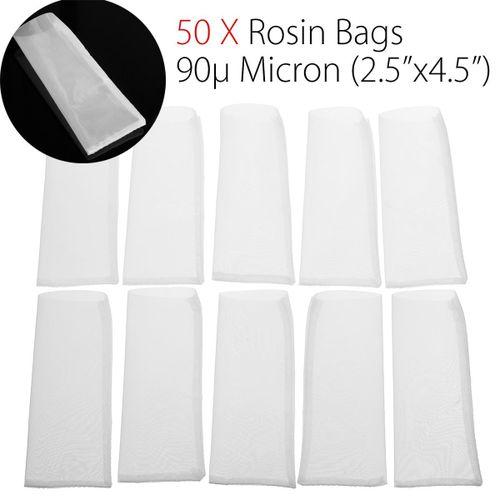 "Rosin Bags Filter Tech Screen Press Tea Bags - 90u Micron (2.5"" X 4.5"")- 50 Pack"