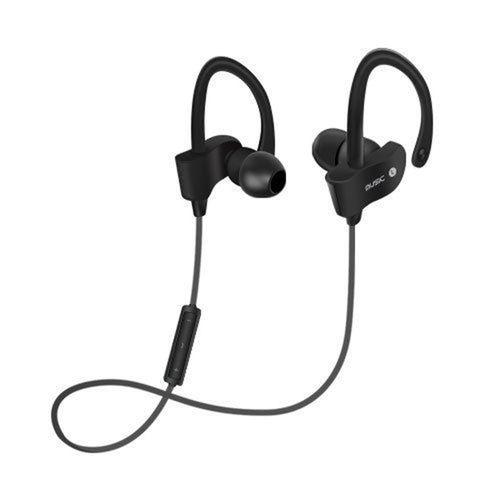 Wireless Bluetooth Stereo In-Ear Bass Earphone W/ Mic-Black