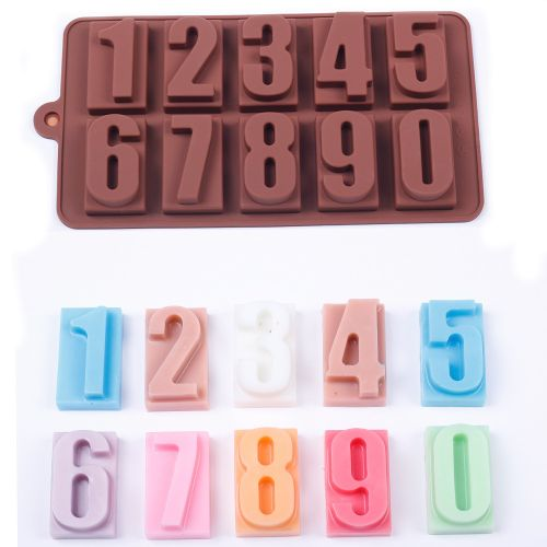 Number 0 - 9 Silicone Mould Cake Reusable Baking Ice Icing Cupcake Chocolate