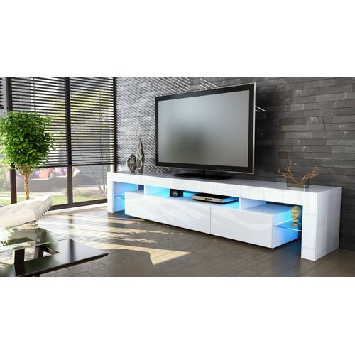OAK 90INCHES TV STAND WITH LED LIGHT (PREPAID ONLY)