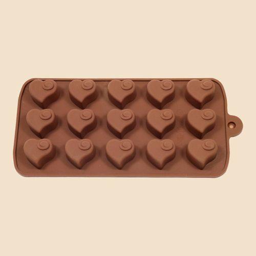Non Stick Silicone Chocolate Mold Love Heart Shaped Jelly I