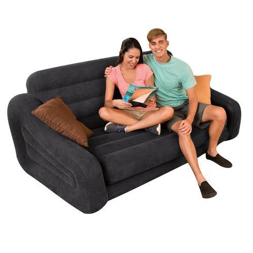 Intex Double Pull-out Sofa And Airbed In Black