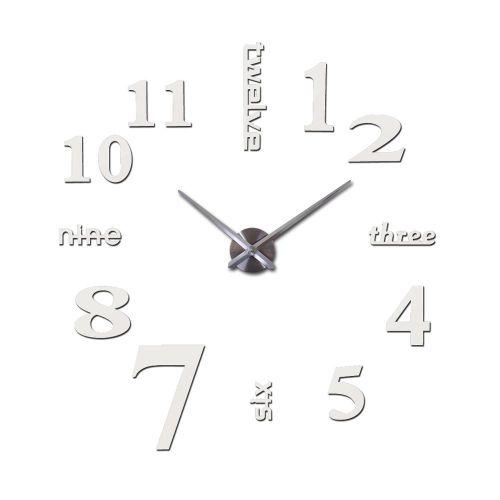 Hot New Quartz Clocks Fashion Watches 3d Real Big Wall Clock Rushed Mirror Sticker Diy Modern Style Design Decor Clock SLS