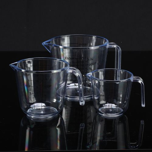 150/300/600ML Clear Measuring Cup PS Food Grade Material Water Milk Egg Yolk Container Measuring Cup Kitchen Measurement Tool