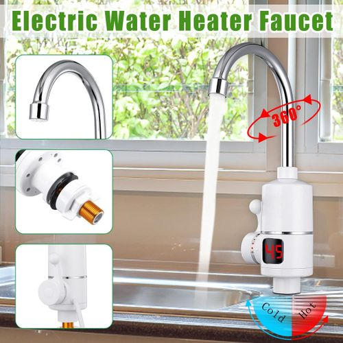 3000W Tankless Instant Electric Hot Water Heater Faucet Tap Leakage Pr