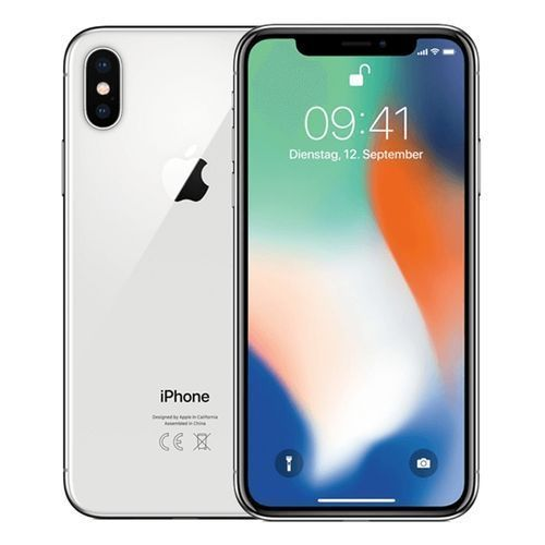 Iphone X 64gb Silver, And Free Pouch And Tempered Glass