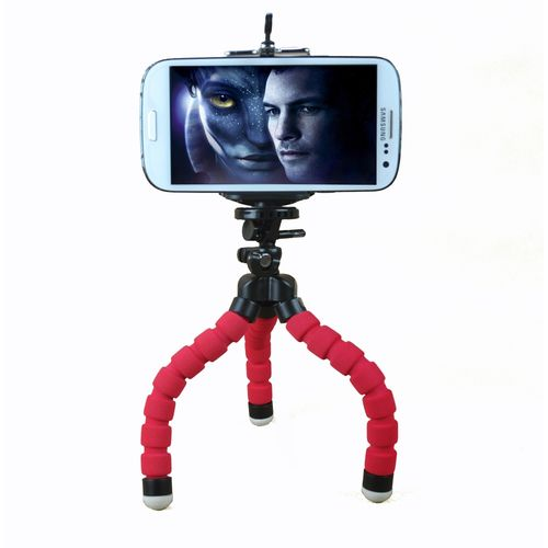 Stylish Octopus Mini Tripod Stative For Phone-red