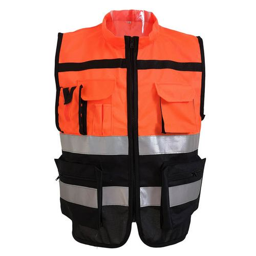L /XL /2XL Cycling Vests High Visibility Safety Vest Reflective Driving Jacket Night Security Waistcoat With Pockets New