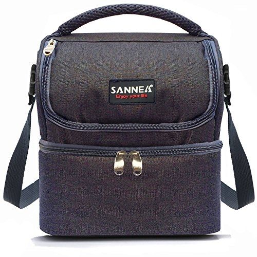 Insulated Double Decker Cooler Lunch Bag