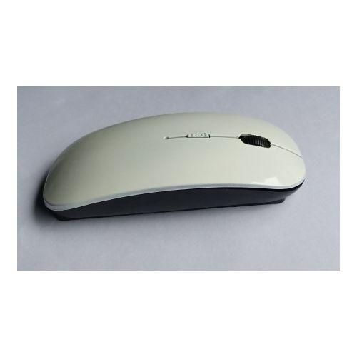 100% Genuine Sleek Optical Wireless Mouse - 4D White