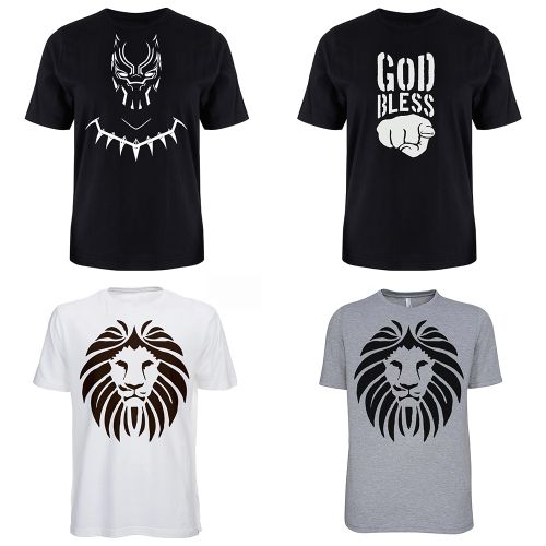 Men's T-Shirt Bundle (4-in-1) - Grey, Black, White