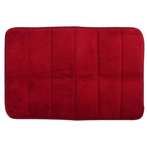 2PCS 40cmx60cm Memory Foam Rug Mat Bathroom Bedroom Non-slip Mats Shower Carpet Wine Red