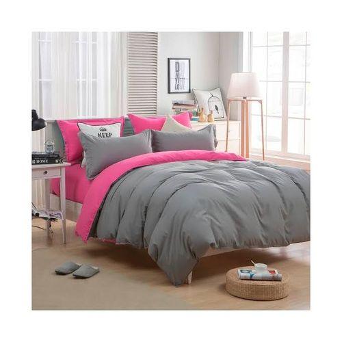 Plain Carton Colour Bedsheet With 4 Pillow Cases