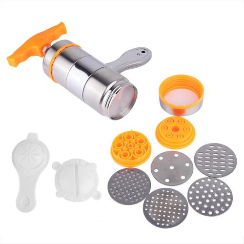 Household 7 Molds Manual Stainless Steel Pasta Maker Noddles Presser Making Machine Spaghetti Machine Para Hacer Noodles Fruit