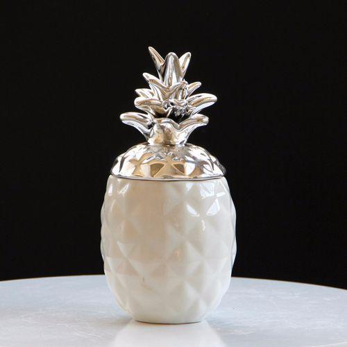 Ceramic Chic Pineapple Tea Coffee Sugar Jars Storage Canisters Home Decor - S