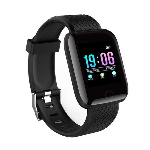 Smart Watch Heart Rate Monitor Fitness Tracker Watch(Black)