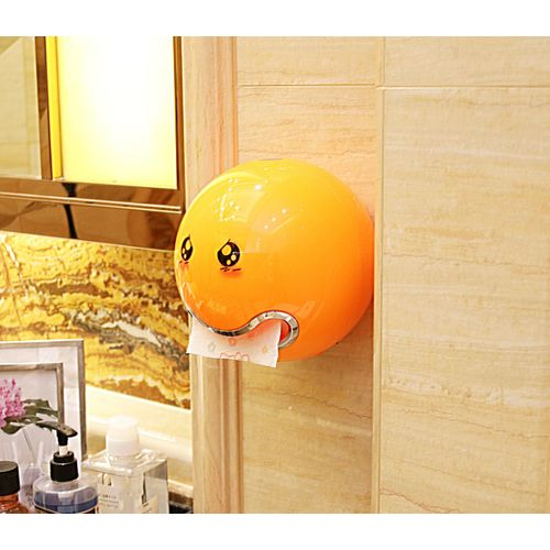 Emoticon ABS Plastic Roll Paper Holder A Variety Of Colors Creative Roll Tissue Box For Bathroom Hotel Toilet Paper Holder