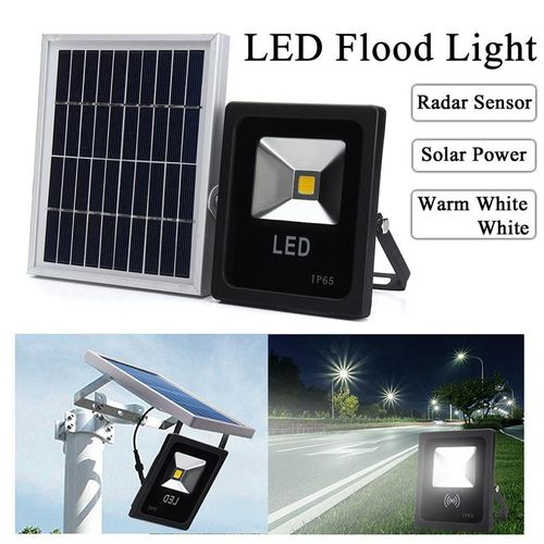 Solar LED Radar Motion Sensor Dusk To Dawn Light Outdoor Garden Wall Street Lamp Warm White
