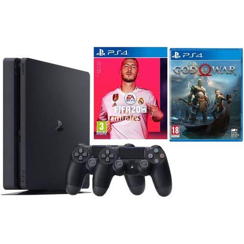 PS4 500GB Slim + Fifa 20 + God Of War Bundle
