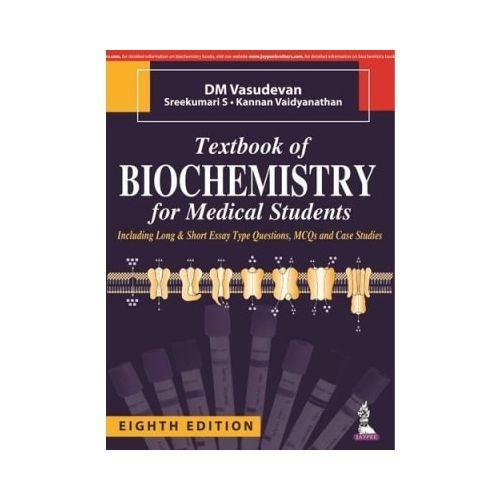 Textbook Of Biochemistry For Medical Students Paperback By DM Vasudevan