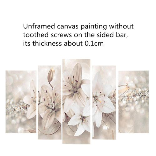 5Pcs Abstract Modern Flower Canvas Print Art Painting Wall Picture Home Decor Unframed