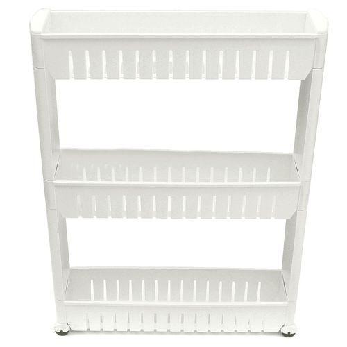 New Moving Rack Kitchen Storage Shelf Wall Cabinets Bedroom Bathroom Organizer White