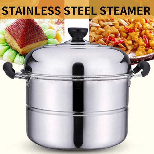 4 Tier Stainless Steel Steamer Induction Steam Steaming Pot Kitcken Cookware US