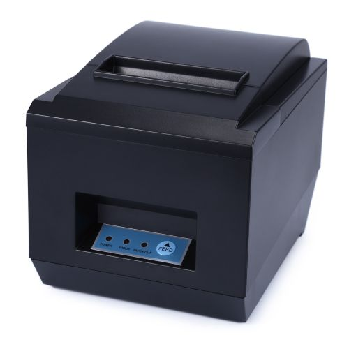 POS Receipt Thermal Printer With 80mm Paper Rolls-BLACK