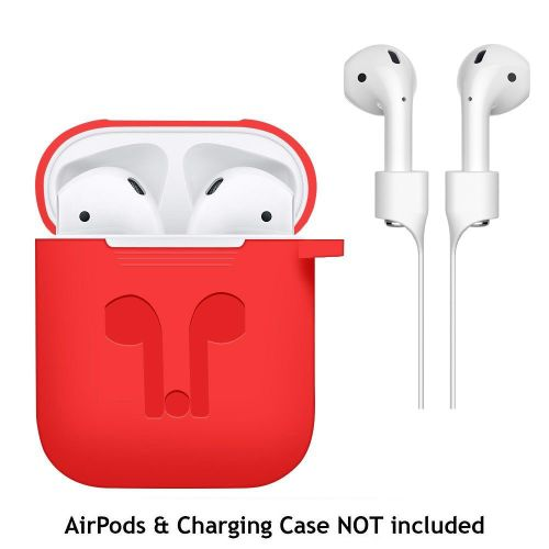 Kaisuoh Case Cover For Apple AirPods + AirPod Strap Silicone Protective Charging Sport