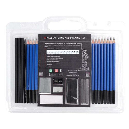 26PCS Office Student Writing Painting Wooden Handle HB Pencil Drawing Set Tools Complete And Easy To Use