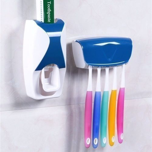 Toothpaste Dispenser Plus Brush Holder - Blue
