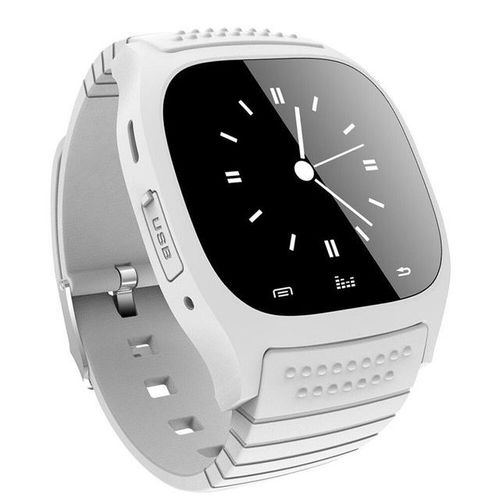 Fashion Leisure Bluetooth Touch Screen Smart Wrist Watch Waterproof Multifunction Smartwatch For Android/Ios Samsung Iphone Htc Phone (White) WANKAI