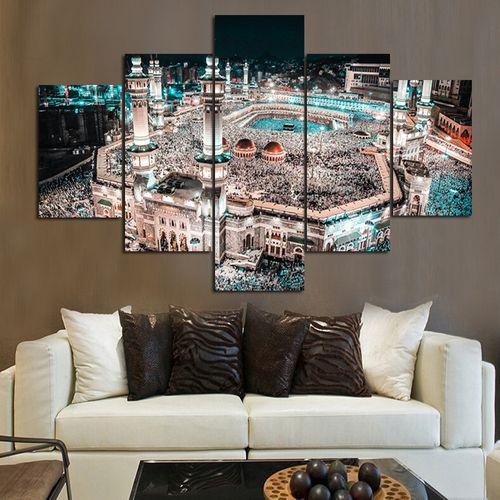 5pcs Lesser Bairam Islamic Shrine Caaba Canvas Print
