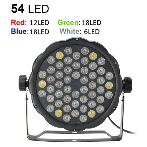 6*54x3W RGBW LED Light 162W PAR 64 DMX Outdoor DJ Party Club Stage Show Lighting