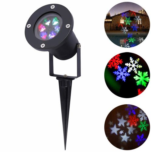 YouOKLight 12W Holiday Decoration Waterproof Outdoor LED Stage Lights RGB/White Light Christmas Laser Snowflake Projector Lamp WOEDB