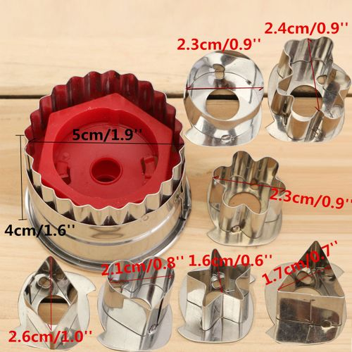 7Pcs Baking Tools DIY Biscuit Cookie Cutters Different Shaped Cake Decorating Sugarcraft Cutters Mold Kitchen Pastry Mould