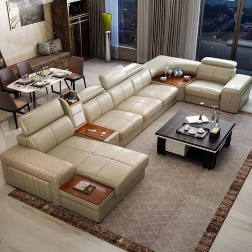 Country Sax Sectional Sofa +Center Table-Free Lagos Delivery