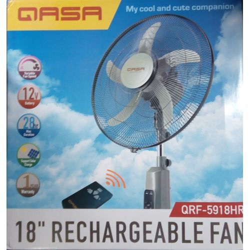 RECHARGEABLE STANDING FAN WITH USB 18 INCHES