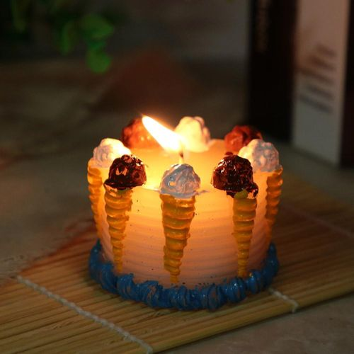 Candle In The Shape Of Ice Cream, Candle Without Decoration For Body Massage, Party, Birthday Party, Home Decoration, Gifts